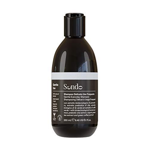 Sendo Champu delicado de Uso Frecuente para Cuidado del cabello de Uso Diario con Extracto de Prebiotico de Vid, Extracto Biotecnologico de Tomate, Extracto Biologico de Te verde y Cafe verde 250 ml