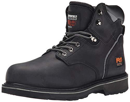 "Timberland PRO Men's Pitboss 6"" Steel-Toe Boot, Black , 11 EE - Wide"