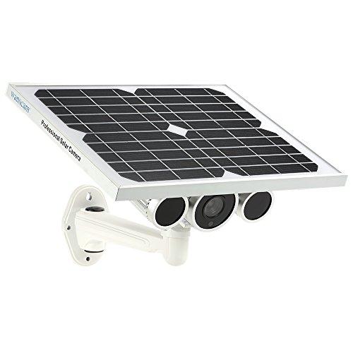 Wanscam HW0029 Cámara IP de energía solar al aire libre con batería 720P H.264 8mm lente impermeable WiFi de visión nocturna IR15m ONVIF2.1 P2P cámara de seguridad de vigilancia