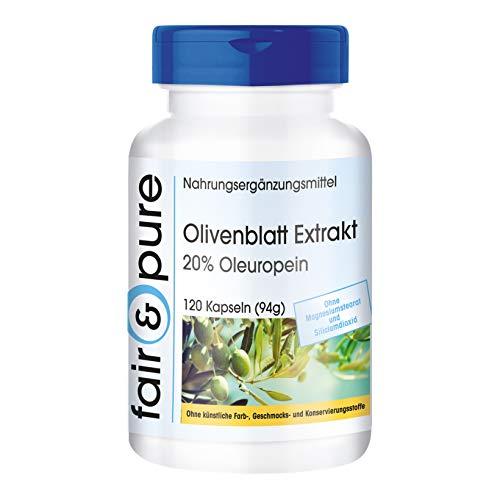 Extracto de Hoja de Olivo - 20% de Oleuropeína - Olive Leaf Extract - Alta pureza - 120 Cápsulas
