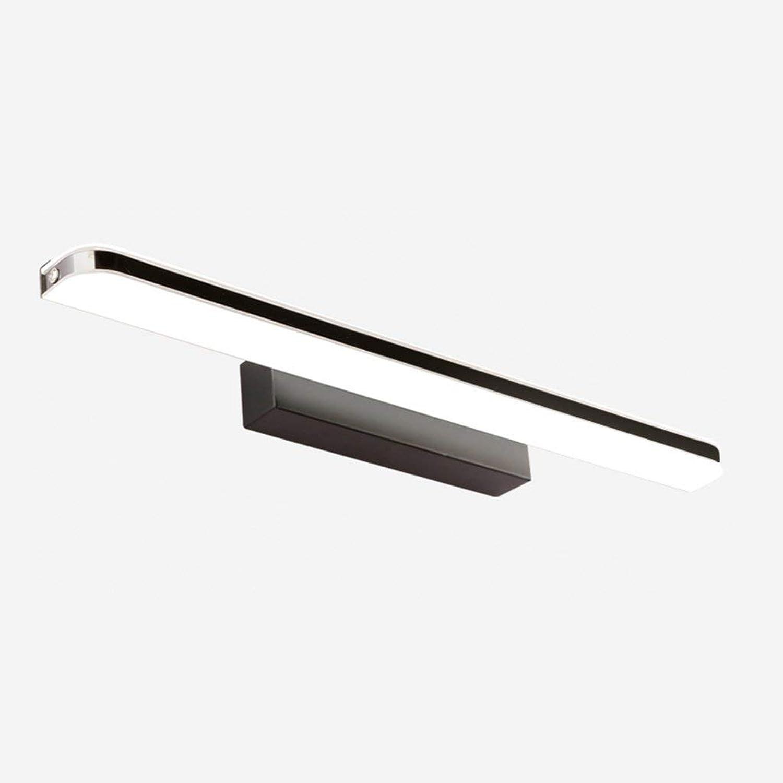 BAIF Spiegelleuchte led wasserdicht Anti-Fog Toilette Moderne einfache kommode toilettenbeleuchtung (Farbe  wei, 8 watt   40 cm) (Farbe  schwarz-80 cm 15 watt)