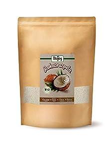 Biojoy Coco rallado ecologico, sin azúcar y sin tostar, rallado mediano (1 kg)