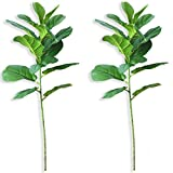 Beebel Artificial Plants Fiddle Leaf Fig Fake Plant Fiddle Leaf Indoor/Outdoor Real Touch Plant for Home and Office Decoration (24 inch)
