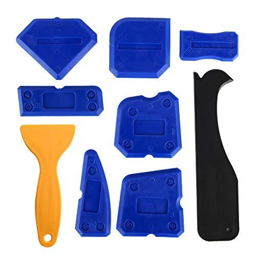 9pcs Boor Tool Kit Sealant Afwerking gereedschap Krasjes verwijderen Sealing reinigingsschraper