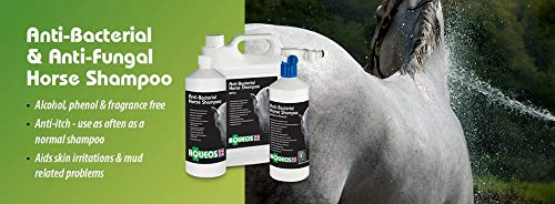 Aqueos Horse Shampoo   Anti-Bacterial / Anti-Fungal / Anti-Viral / Anti-Itch   1 Litre Soothes, Relieves Itching, Skin…