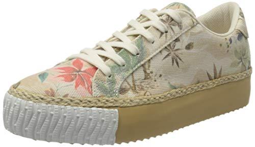 Desigual Sneakers Wedge, Sneaker Femme, Fog, 38 EU