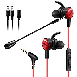 POWERFUL SOUND: Loud and powerful sound, Coupled with super bass and loud volume, ensures pounding bass and zero distortion, result in an exceptionally clear, crisp sound with deep rich bass PROFESSIONAL GAMING EARPHONE: Capture the sound of flying b...