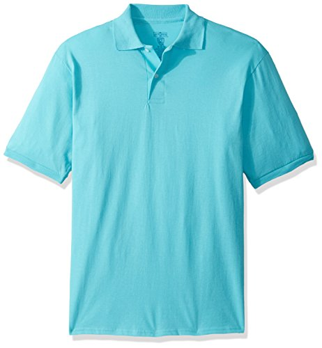 Jerzees Men's Spot Shield Short Sleeve Polo Sport Shirt, Scuba Blue, 3X-Large