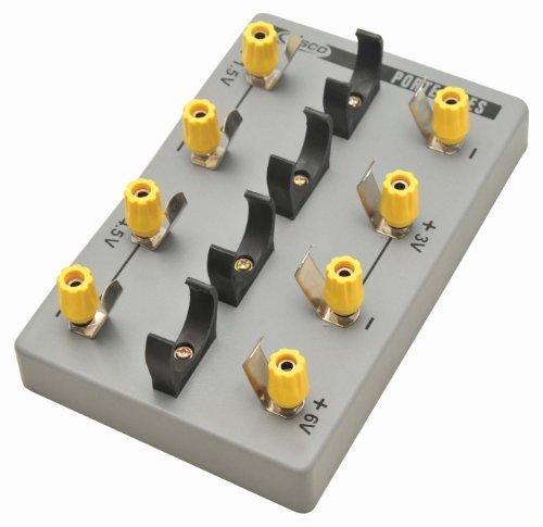 Eisco Labs fuente de alimentación de batería variable; capacidad para hasta 4 celdas D
