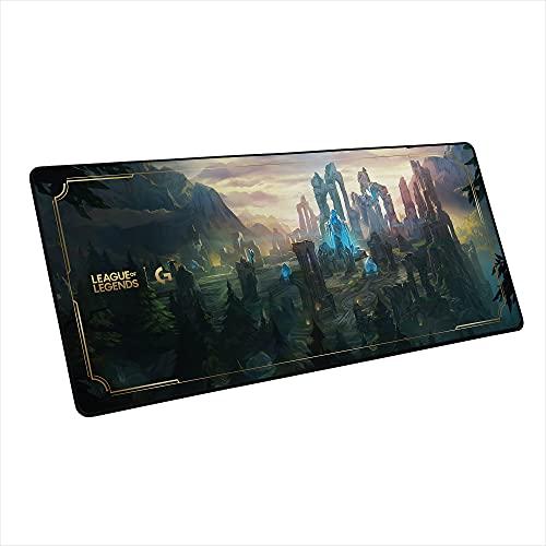 Logitech G840 Tapis de Souris Gaming XL, Fin 3mm, Base Caoutchouc Stable, Surface pour Les Performances, Edition Officielle League of Legends
