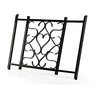 """Camco Adjustable Screen Door Deluxe Grille - Protects RV Door Screen and Prevents Damage, Adjusts From 20"""" - 32"""", Installation Hardware Included - Black (43993)"""