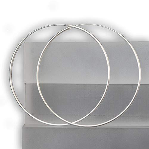 Creolen Ohrringe 925 Sterling Silber Ohrschmuck runde große Kreolen | 45 mm