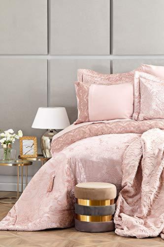 KARACA Home Valeria Royal Rose Gold 10-teiliges Hochzeitspaket, Bettdecke, Bettbezug-Set, Decke, Blatt, Kissenbezug Mitgift Set 1 Bettlaken 240x260cm + 1 Bettbezug