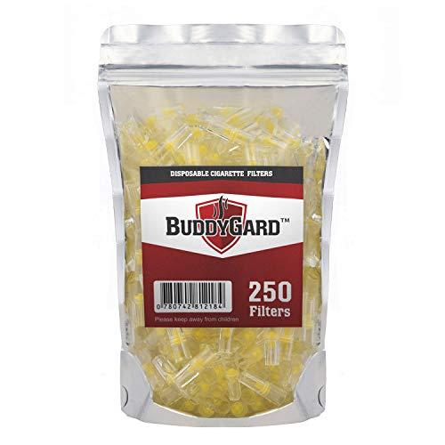 BuddyGard Filtros de cigarrillos desechables de 8 mm (250 Ct.)