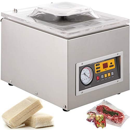 BestEquip Chamber Vacuum Sealer Machine DZ 260S Commercial Kitchen Food Chamber Vacuum Sealer, 110V Packaging Machine...