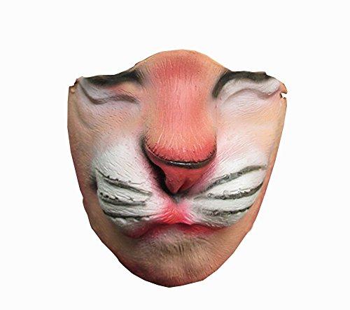 Einzigartige halbe Gesichtsmaske Tier Festival-Party-Latex-Maske [Löwe]