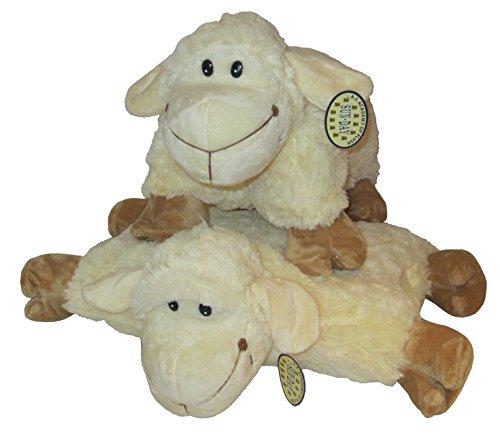 2in1 Kuschelkissen und Kuscheltier Schaf, Schäfchen, Schafkissen, Kuschelschaf mit Klettverschluss 46cm