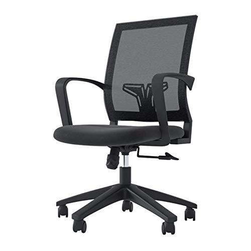 ZXN RTU Relax - Silla de oficina cómoda y segura, sillas de escritorio para oficina en casa, con respaldo lumbar de malla transpirable