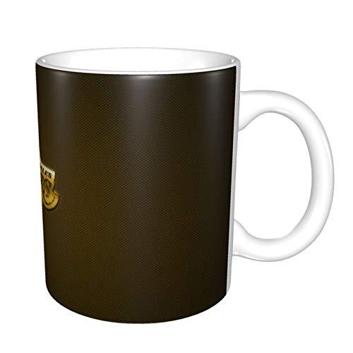 Los Angeles Lakers Taza de café de cerámica brillante, taza mágica de té para oficina y hogar, 330 ml, apta para lavavajillas y microondas, 1 paquete