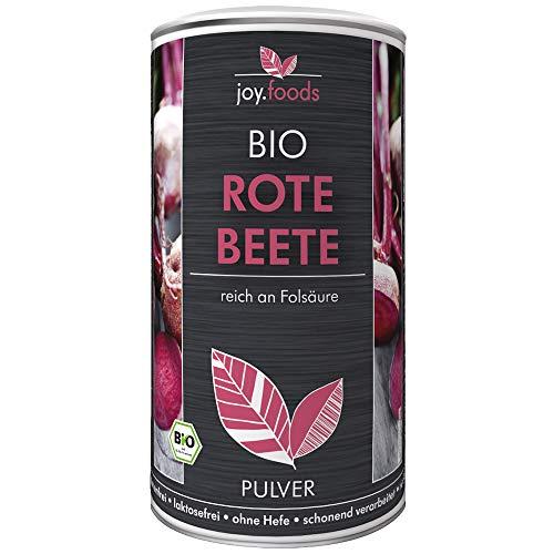 joy.foods Bio Rote Bete Pulver, Folsäure, Superfood aus Deutschland, laborgeprüfte Qualität, 250 g