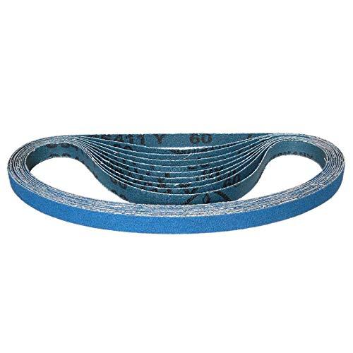 Klingspor CS 411 Y Schleifband/Feilenband | 13 x 610 mm | 10-teiliges Premium-Set | Je zwei Bänder der Körnungen 40,60,80,100 und 120