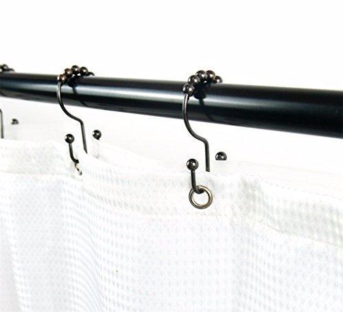 A.Monamour Duschvorhanghaken Duschvorhangringe Doppel Glide Duschvorhang Ringe Rostfreier Edelstahl Metallkugeln Gleitfähigkeit Rollen Haken Für Badezimmer Duschstangen, Eingestellt Von 12 - Kupfer