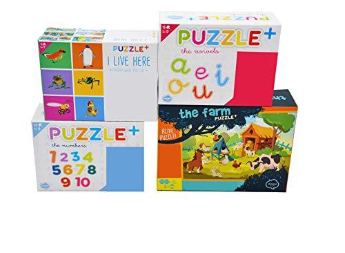 LEPANTO Puzzle para Niños de +3 Años. Conjunto de 4 Unidades de Puzzles Infantiles Ideales para Aprender