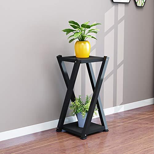 Balcon voyantes Cadre de fleurs en fer forgé multi-étages salon radis vert balcon charnue pot pot de fleurs 60 * 20 * 20 cm Plantes d'extérieur Présentoir (Couleur : E)