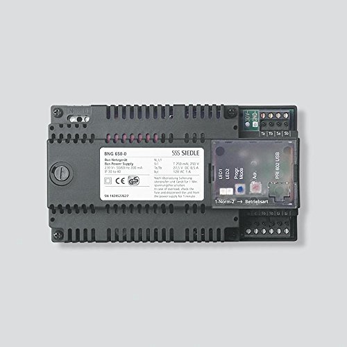 Siedle 035261 BNG 650-0 NL/FR/IT/NL/DK/SE Bus-Netzgerät zwart
