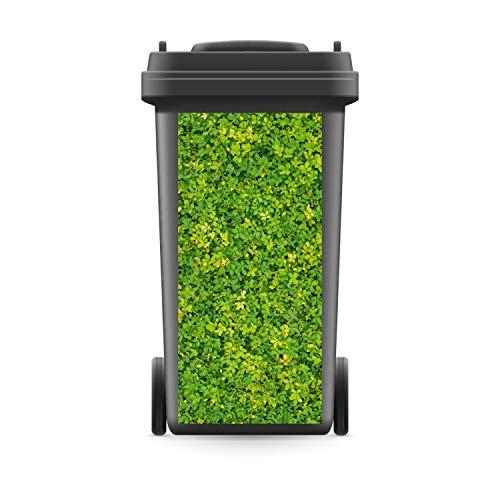 WERBEPUNKT. Mülltonnenaufkleber Mülltonne Mülleimer Abfalltonne Sticker Hecke Strauch - 800 x 370 mm