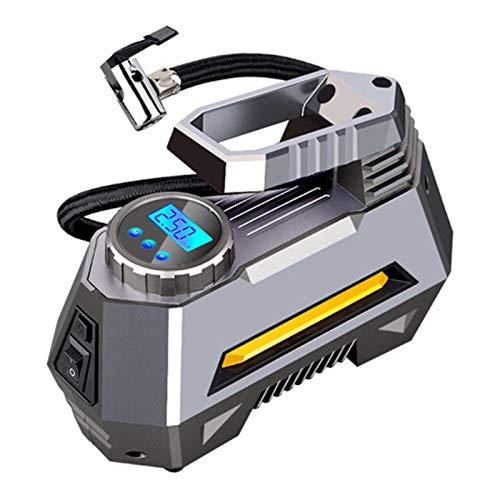 Xu-wang123 Portátil de compresor de Aire del neumático del neumático del Coche Bomba con Manómetro Digital Brillante de la Linterna de Emergencia (Color Name : Digital)