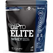 BiPro Elite 100% Whey Isolate Protein Powder, French Vanilla 2 Pounds - NSF Certified for Sport, Sugar Free, Suitable for Lactose Intolerance, Gluten Free, Contains Natural Sweeteners