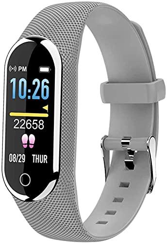 Smart Watch 0 96' Pantalla táctil de alta definición a color Recordatorio de información de datos de sueño Push Multi-Sports Podómetro preciso para Android e iOS Exquisito/Plata