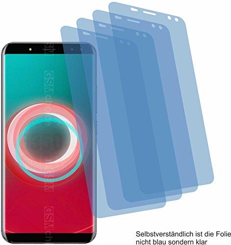 4ProTec I 4X Crystal Clear klar Schutzfolie für Ulefone Power 3S Bildschirmschutzfolie Displayschutzfolie Schutzhülle Bildschirmschutz Bildschirmfolie Folie
