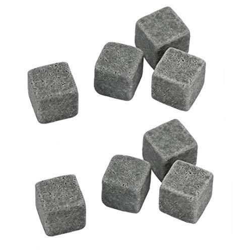 Romote 8pcs Whisky-Steine ??umweltfreundlicher Granit Eiswürfel Whisky-Steine ??Eiswürfel Rock Handcrafted Granit Getränke Chilling Cubes