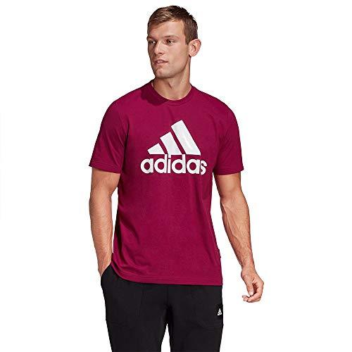 adidas Must Haves Badge of Sport Tee, Maglietta a Maniche Corte Uomo, Viola (Powber), S