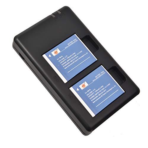 DSTE 2 Piezas de Recambio de bateria NB-6L Batterie + USB Cargador Dual Compatible con Canon PowerShot SX170 IS SX240 HS SX260 HS SX270 HS SX280 HS SX500 IS SX510 IS SX600 IS
