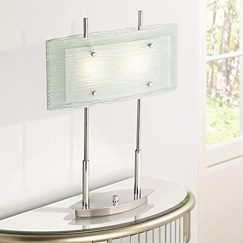 Possini Euro Charles Street Tiered Slumped Glass Desk Lamp -