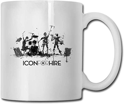 White Ceramic Cup Glossy Coffee Cup Drink Cup Office Fun Gift 11.6oz (330ml) Icon for Hire