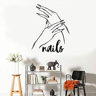 Wall Decal Sticker Art Mural Home Dcor Quote Red Nail Manicure for Baeuty Salon Barber Shop