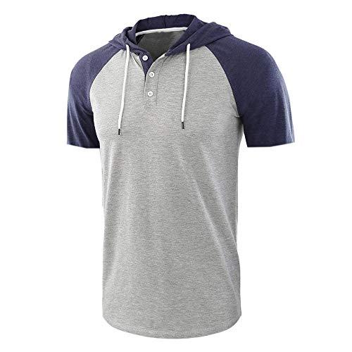 TLLW Herren-T-Shirt, Retro-T-Shirt, einfarbig, kurzärmelig Gr. L, Stil 5