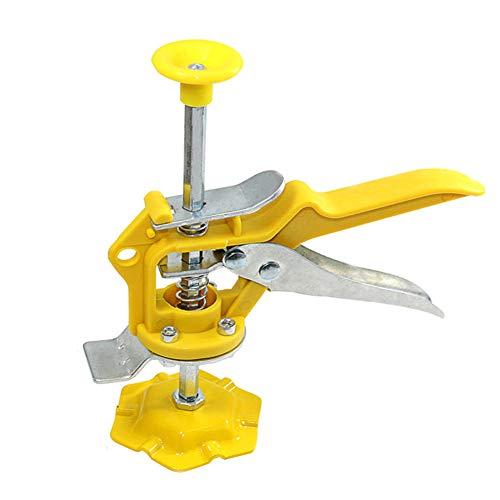 GGkeging Elevador de baldosas, ajustador de elevación de azulejos, herramienta auxiliar, levantador de pared, elevación de azulejos, sistema de nivelación de azulejos