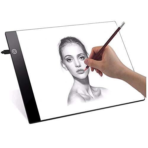 Mesa de Luz Dibujo Mesa de Luz para Calcar a4 USB LED Tableta de Luz Dibujo A4 de Iluminación de Caja de Alimentación para Pintar Bocetos Dibujo Animación