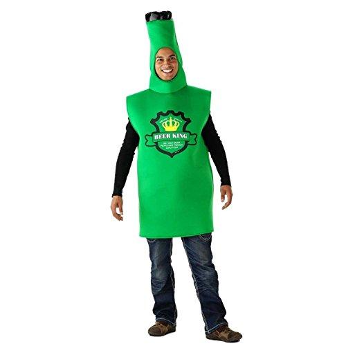 Folat 21951 Grünes Bierflaschen-Kostüm Erwachsene, One Size