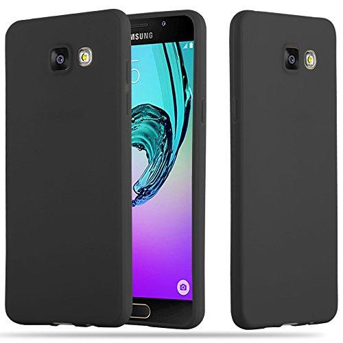 Cadorabo Hülle für Samsung Galaxy A5 2016 (6) - Hülle in Candy SCHWARZ – Handyhülle aus TPU Silikon im Candy Design - Silikonhülle Schutzhülle Ultra Slim Soft Back Cover Case Bumper