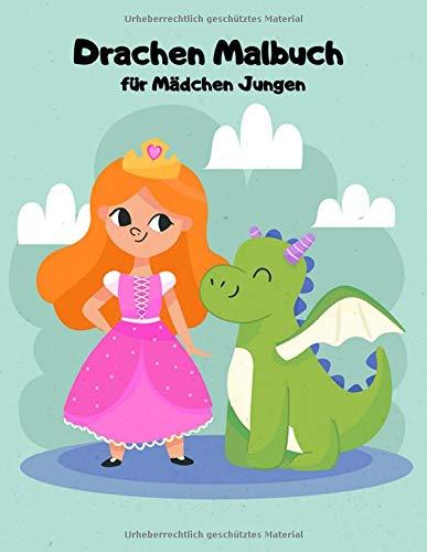 Drachen Malbuch für Mädchen Jungen: Einseitig 90 einzigartige Drachen Ausmalbilder für Kinder. Lernen Tier Spaß Fakten Buchgröße 8,5 x 11 Zoll (Drachen Malbuch Kinder Band 2)