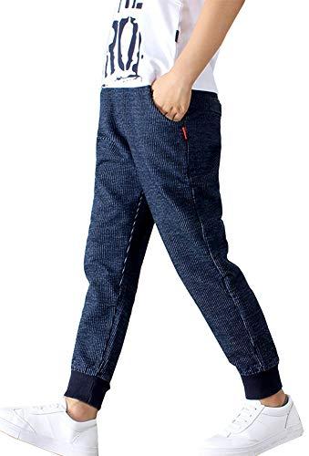 Kinder Jungen Jogginghose Outdoor Pants Freizeithosen Frühling-Herbst Sweathosen Sporthose (Blau, 110-115)