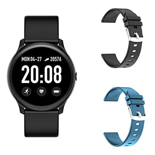 LJMG Smart Watch, KW19, Monitor De Ritmo Cardíaco para Mujeres Y Hombres, IP67 Impermeable, Rastreador De Fitness para Reloj Deportivo para Hombres Android iOS,E