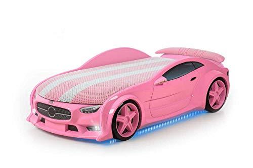 Autobett fur Kinder, Auto Bett Kinderbett für Kleine Rennfahrer, Kindermöbel Spielbett mit Matratze, Jugendbett Serie...