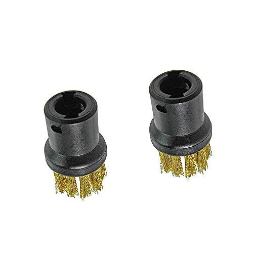 Xkfgcm 2 Piezas Boquillas para Cepillo de Alambre de Latón Cepillo de Limpieza a Vapor Boquilla Redonda Cepillo para Limpiador de Vapor Karcher SC1 SC2 CTK10 SC3 SC4 SC5 SC7
